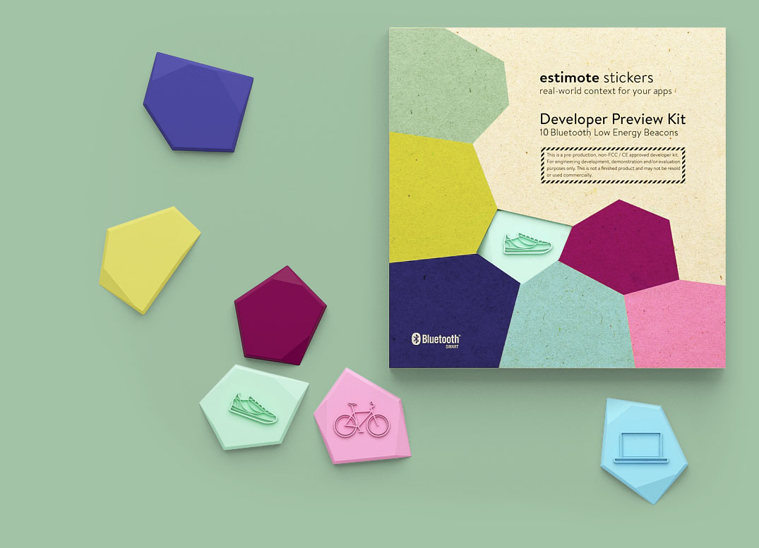estimote stikers